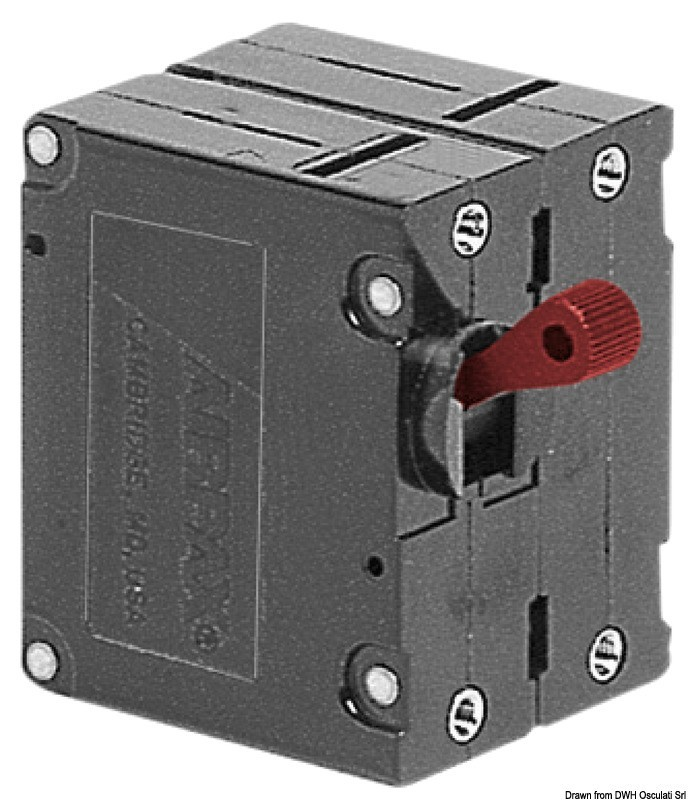 Airpax hydraulic magnetic circuit breaker 25A 220V, 14.734.25