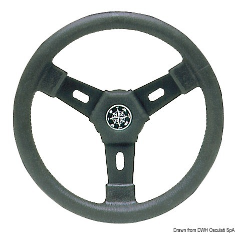 Sport 3-spoke steering wheel black 300 mm, 45.158.09