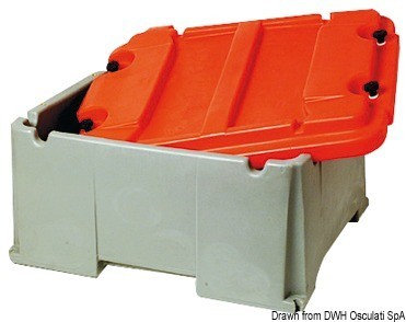Battery box for 2 batteries, 14.544.02