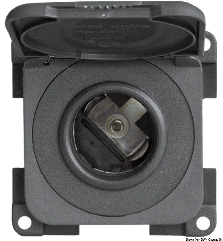 Telephone/lighter socket dark grey, 14.651.01