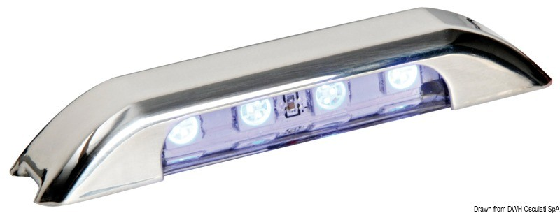 LED courtesy white light w/front panel, 13.428.01