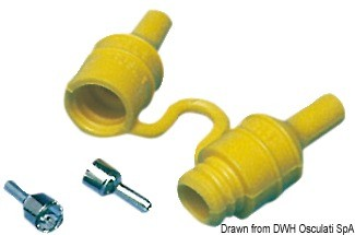 Watertight fuse holder for glass fuses, 14.115.15