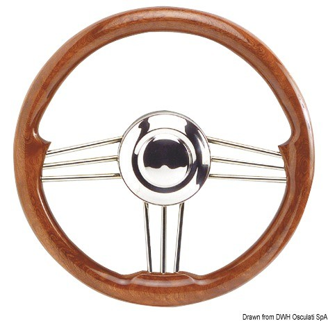 SS+mahogany steering wheel 350 mm, 45.174.35