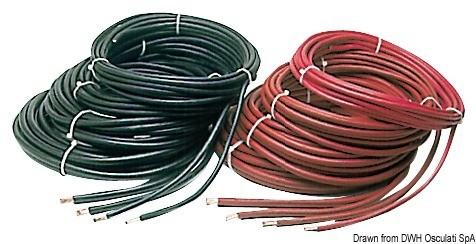 Copper battery cable red 70 mm, 14.382.70