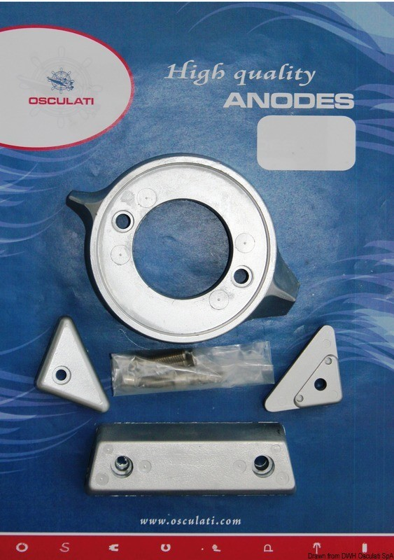Anode kit for Volvo engines 290 magnesium, 43.343.02