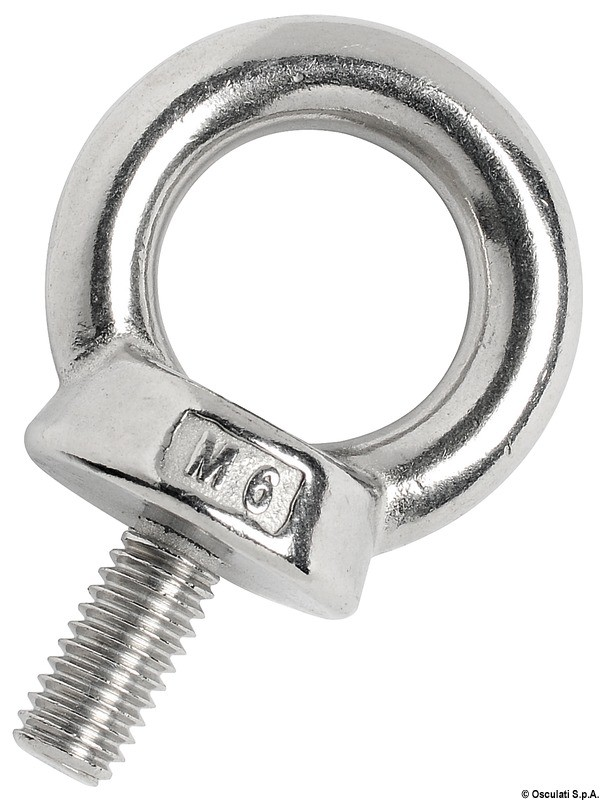 Male forged eyebolt AISI316 16 mm, 39.158.16