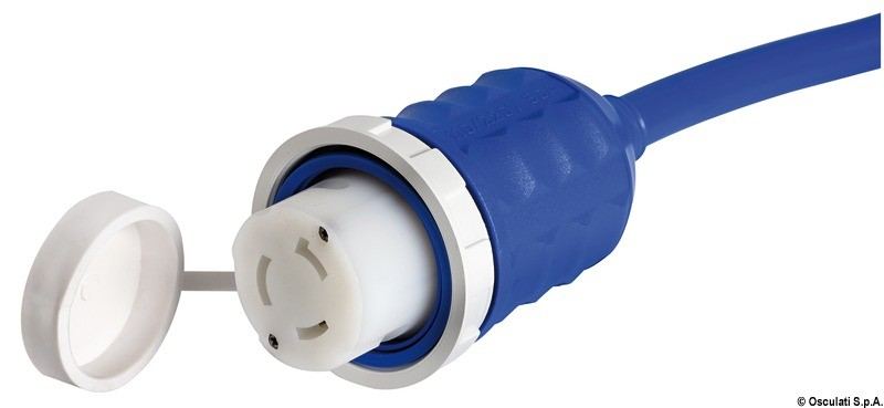 Pre-mounted cap + cable blue 15 m 50 A, 14.334.25