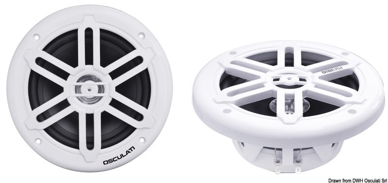 Dual cone speakers 6.5 - 2x120W - white, 29.743.03