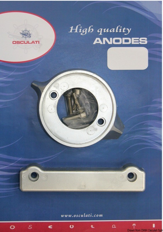 Anode kit for Volvo engines 280 magnesium, 43.340.02