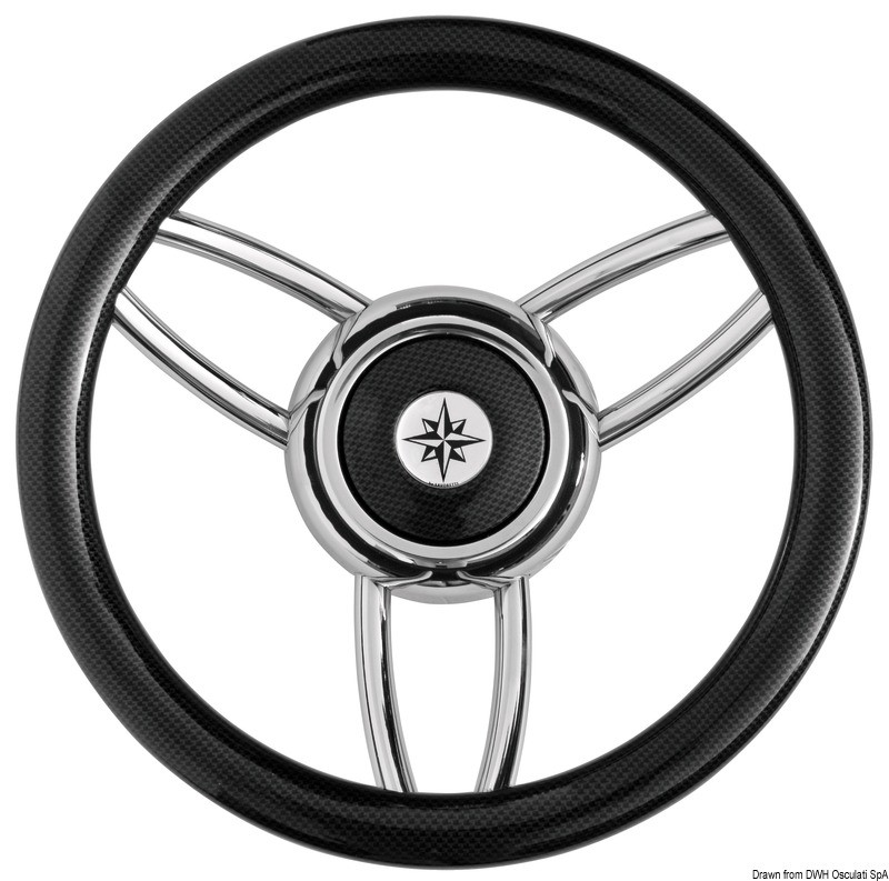 Blitz steering wheel w/carbon outer ring, 45.169.06