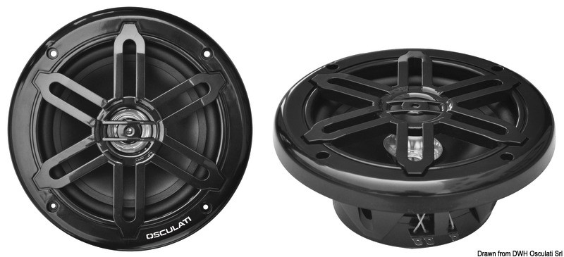 Dual cone speakers 5.25 - 2x80W - black, 29.743.02