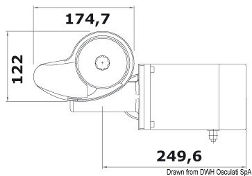 Italwinch Smart windlass 1000 W 12 V - 8 mm gypsy, w/drum, 02.401.35,Osculati,02.401.35,Osculati 02.401.35,Каталог Оскулати